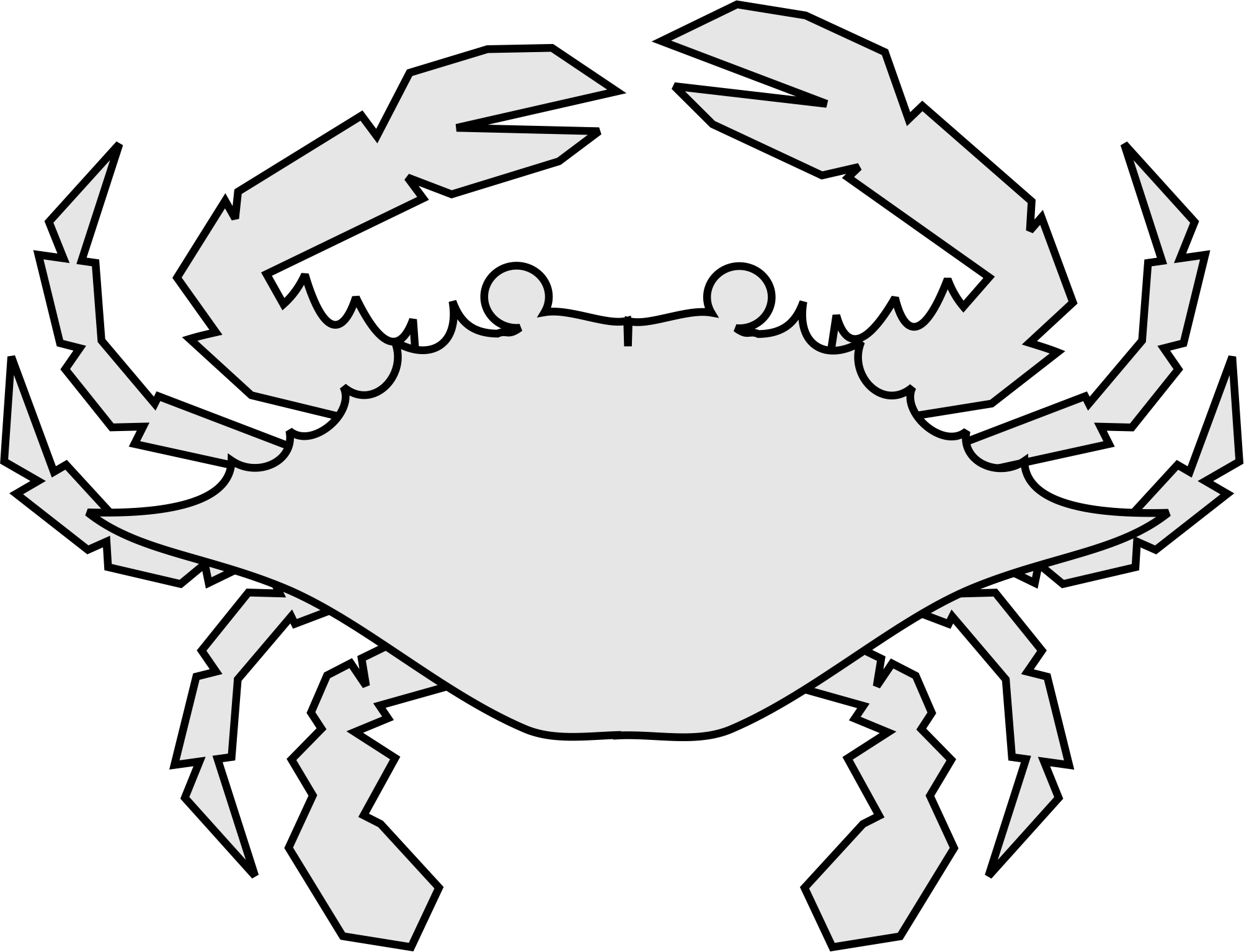 deux-part crab design