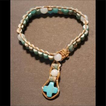 Wrapped Tube Bead Rosary Bracelet