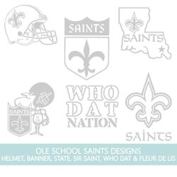 Ole School New Orleans Saints Shield