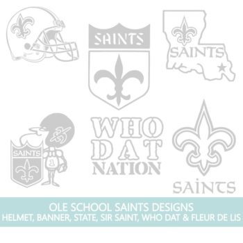 Ole School New Orleans Saints Fleur de Lis