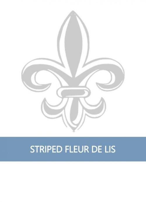 Striped Fleur de Lis