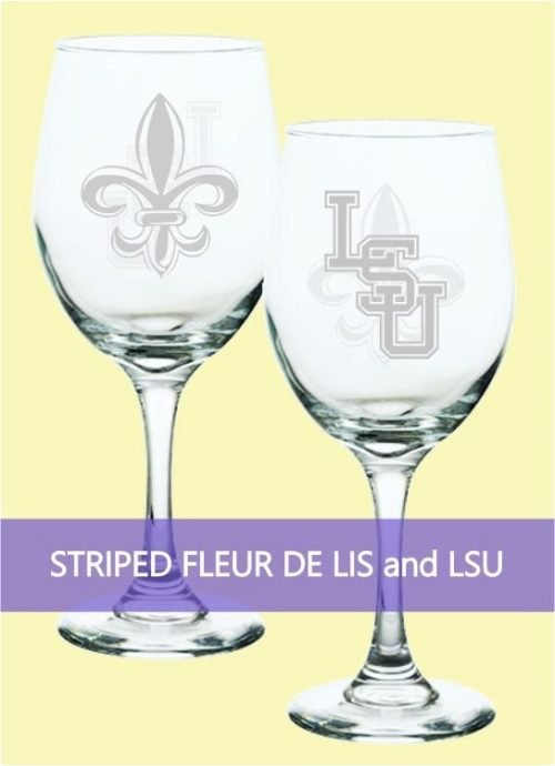 Striped Fleur de Lis and LSU