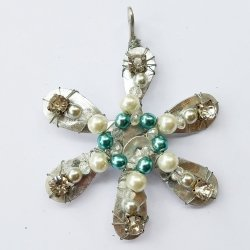 Pearl and Rhinestone Snowflake