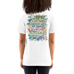 Mississippi Mardi Gras Short-Sleeve T-Shirt BACK PRINT