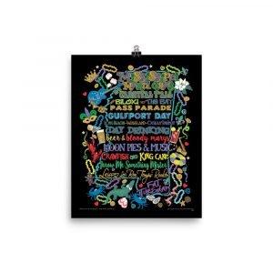 Mississippi Mardi Gras Poster