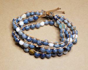 Blue Glazed Mixed Stone Bracelet