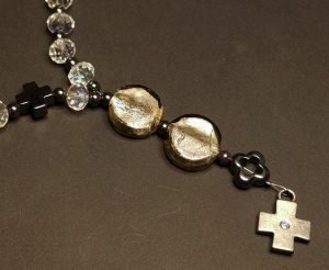 Faceted clear and Hematite Artisan Anglican Rosary