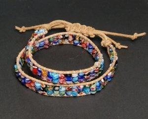 Millefiori Wrap Bracelet