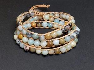 Amazonite Wrap Bracelet