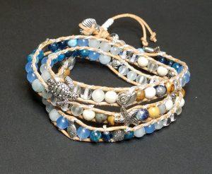 A Walk on the Beach Mixed Glass Bracelet