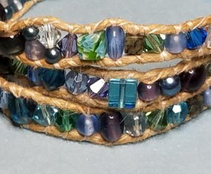 Into the Sea Mixed Glass Bracelet
