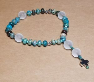Turquoise Artisan Anglican Rosary