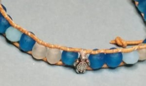 African Glass Anglican Rosary Bracelet